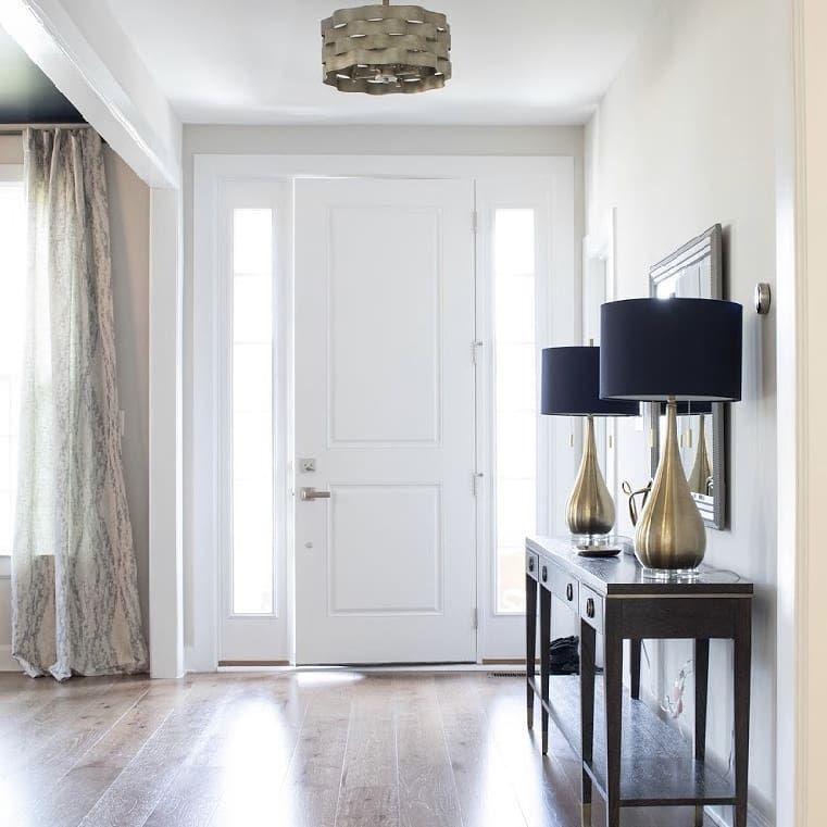 White spacious entryway