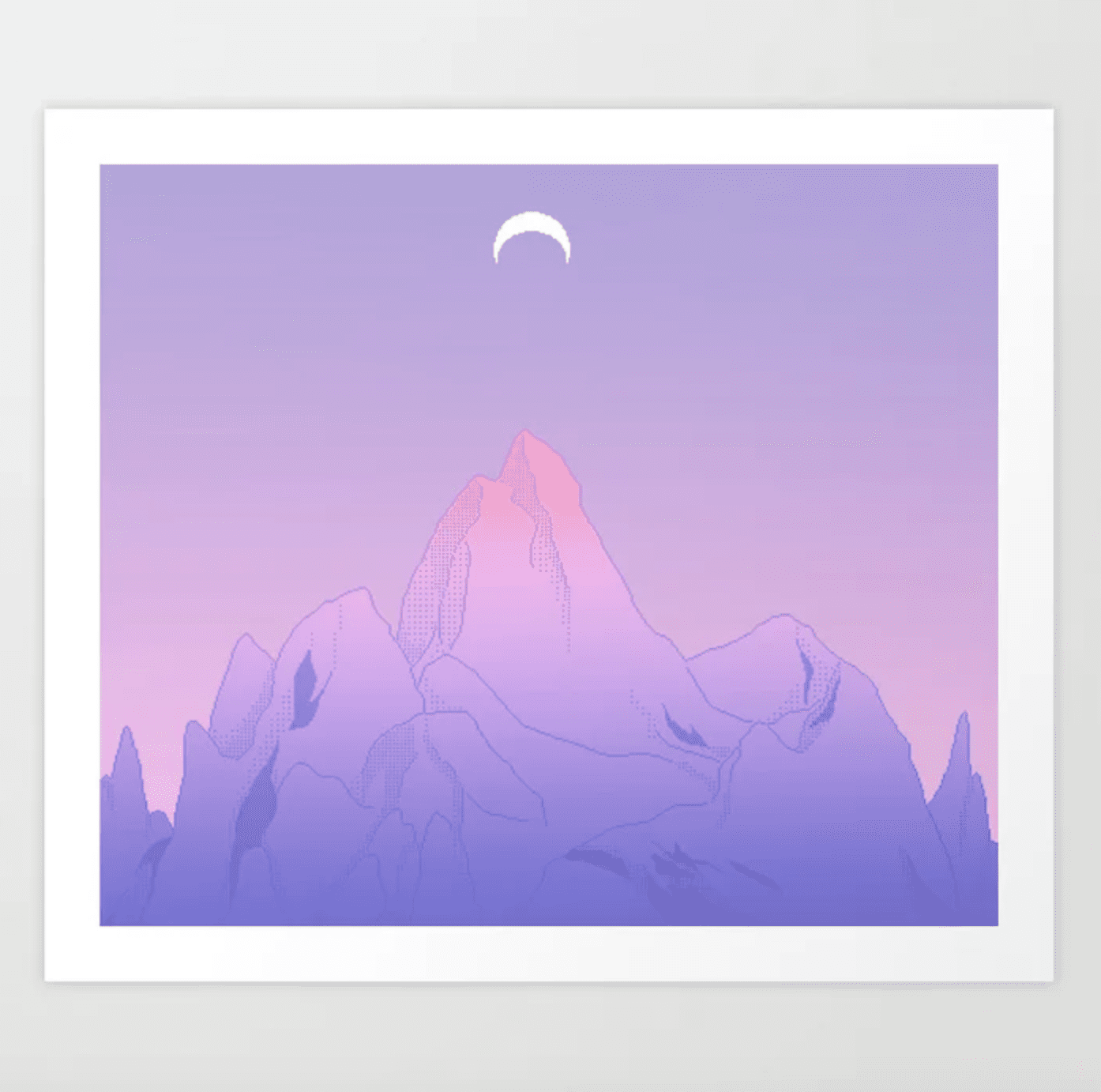 soft moon art print