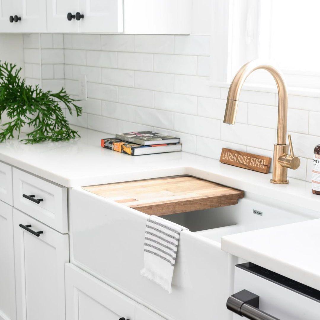 Gold kitchen sink