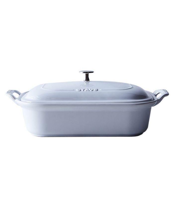 Staub White Ceramic Covered Baking Dish