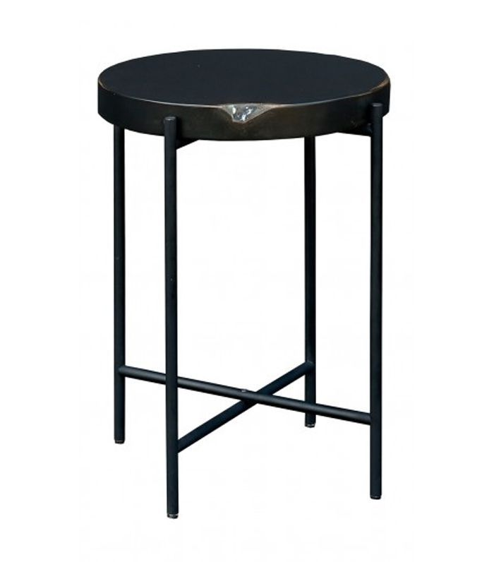 Martine Side Table, Matte Black