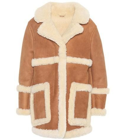 Lody leather and shearling coat
