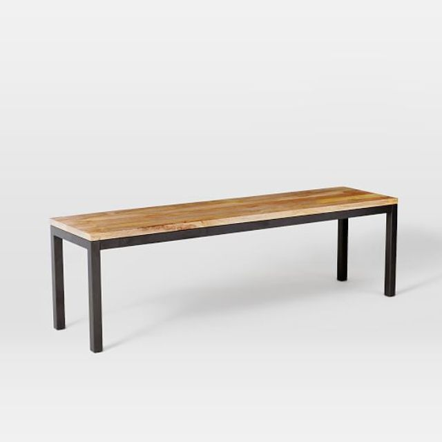 west elm box frame dining bench