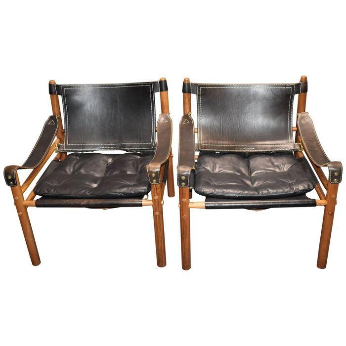 Arne Norell Vintage Safari Sirocco Chairs
