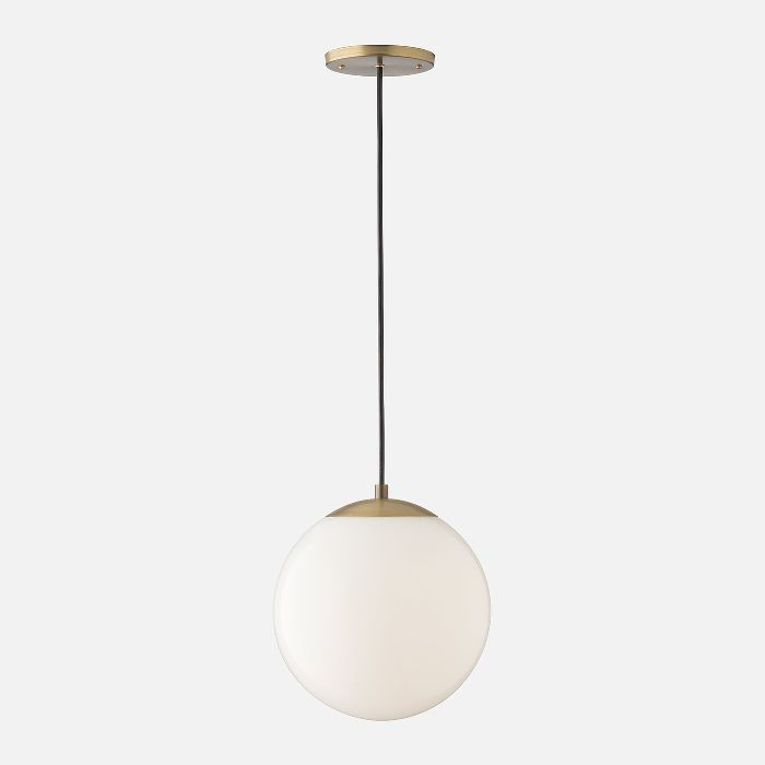 Schoolhouse Electric Luna Pendant Cord with 10-Inch Shade—Midcentury Modern Living Rooms