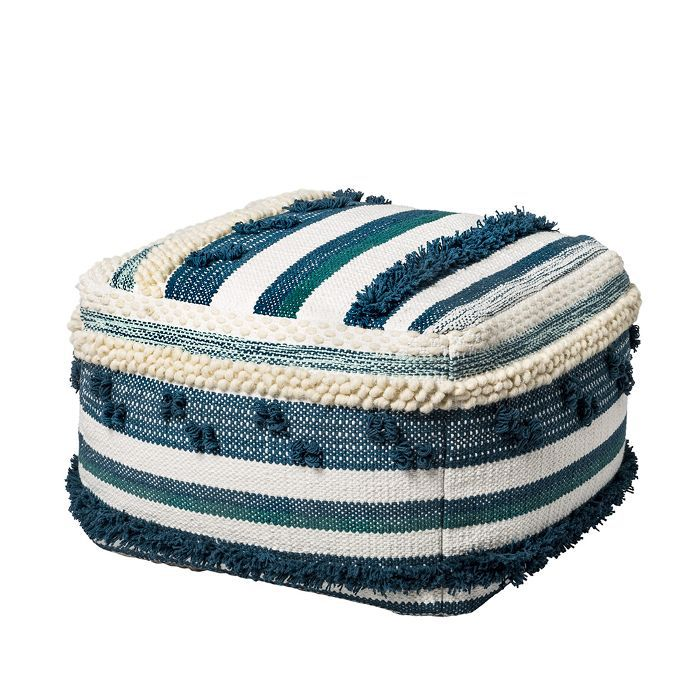 Target Lory Pouf Teal and Green Textured