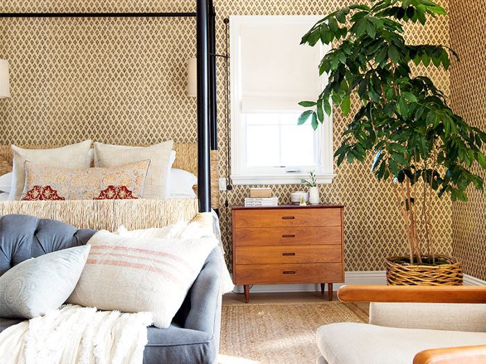 a bedroom decorated with Etsy finds