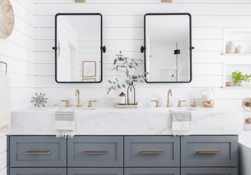 Double Vanity Ideas To Try In Your Bathroom, What Size Mirror For Double Vanity