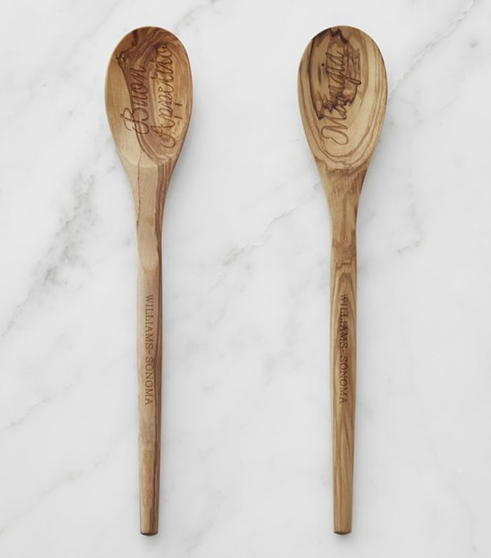 Etched Olivewood Spoons