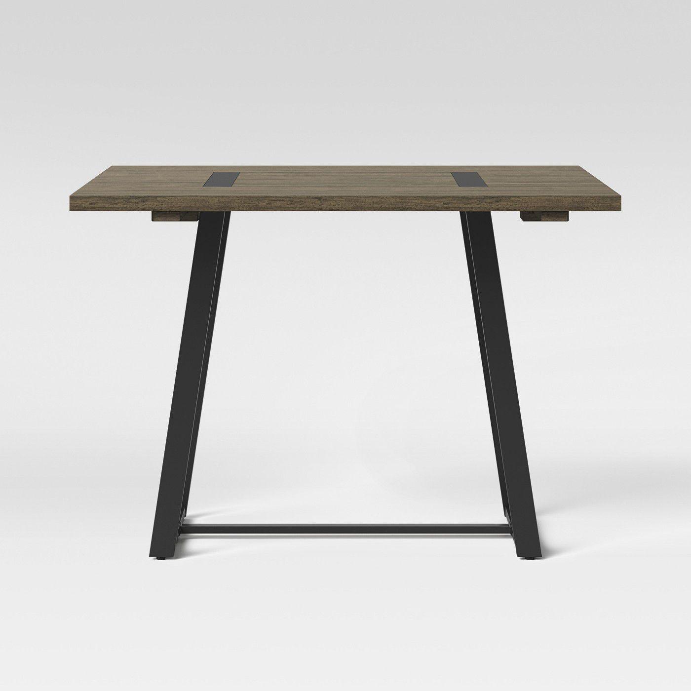 Brimfield Drop Leaf Metal Base Dining Table