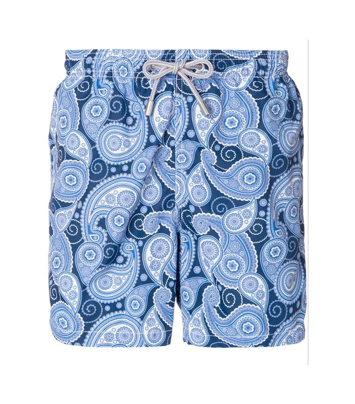 paisley print swim trunks