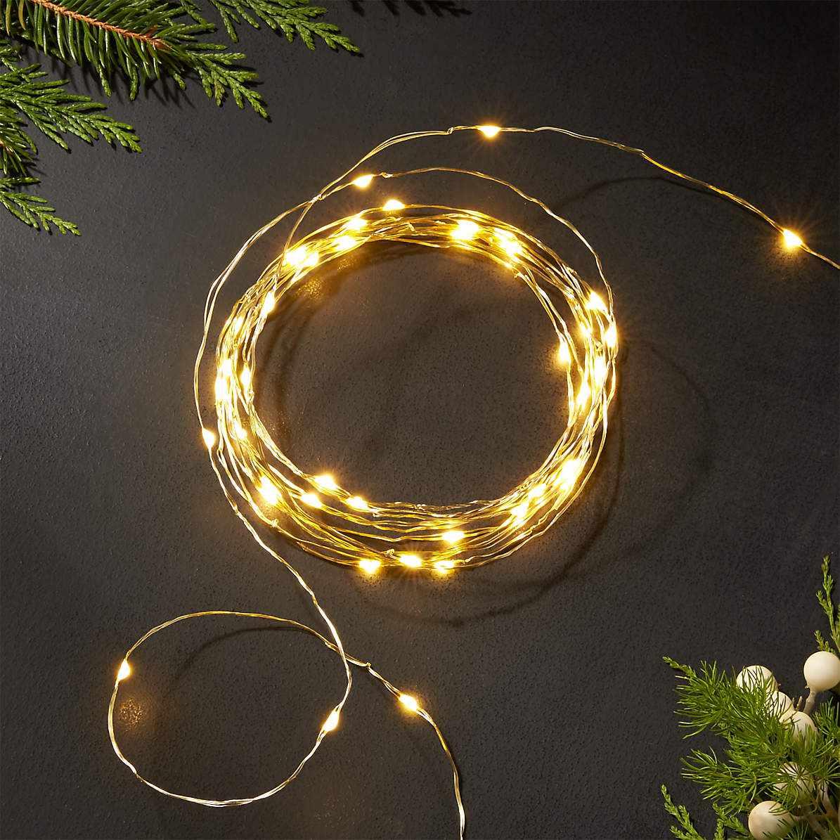 Crate & Barrel Twinkle Gold String Lights