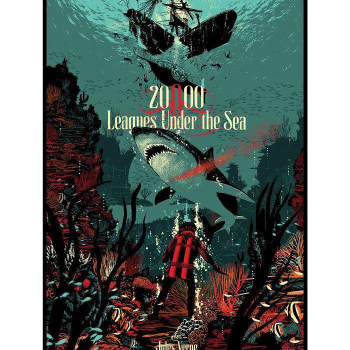 """""""20000 Ligas bajo el mar"""" por Julio Verne"""