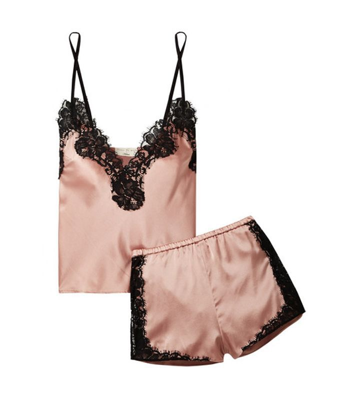 Kilian Lace-trimmed Stretch Silk-satin Pajama Set
