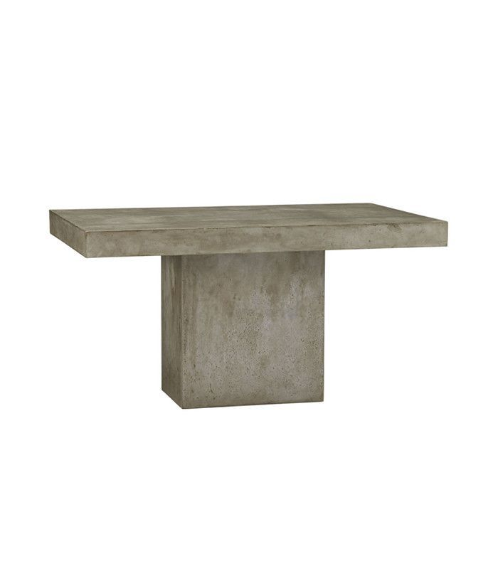 CB2 Fuze Grey Dining Table
