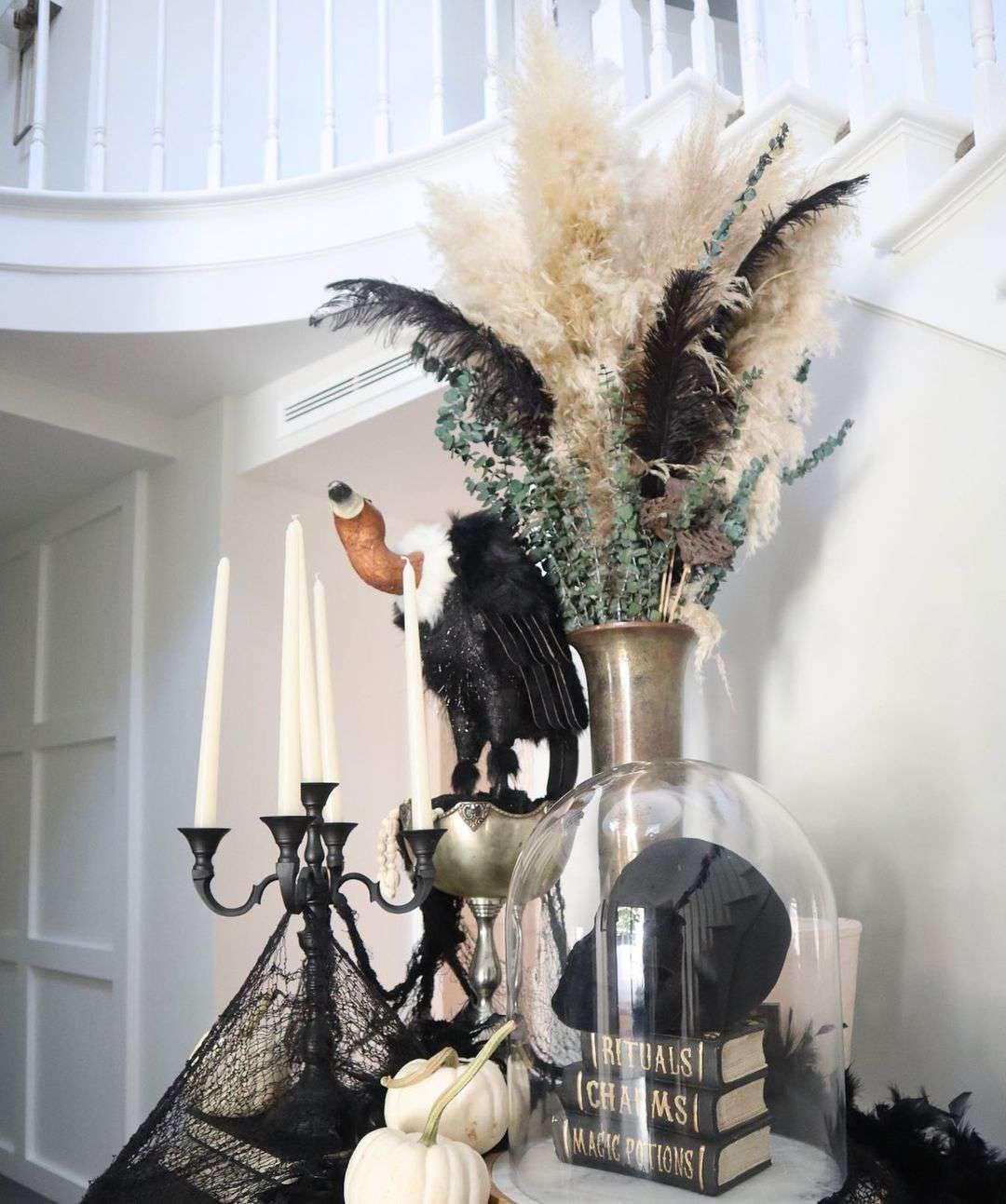 halloween decor with skull