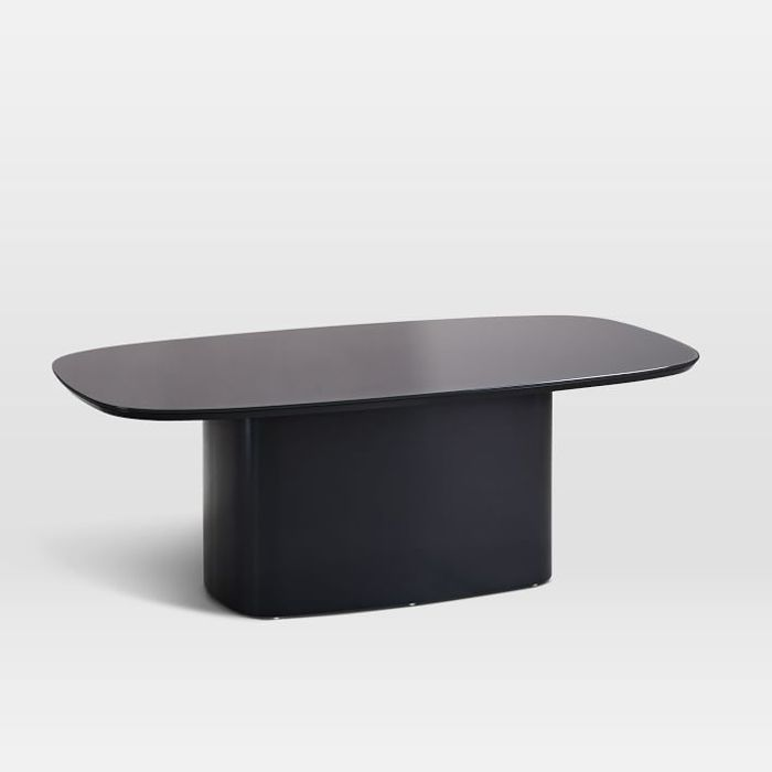 West Elm Superellipse Glass Top Coffee Table