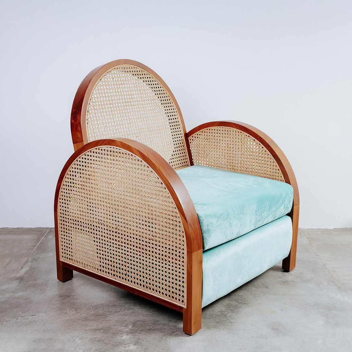 France & Son Arc Cane Lounge Chair