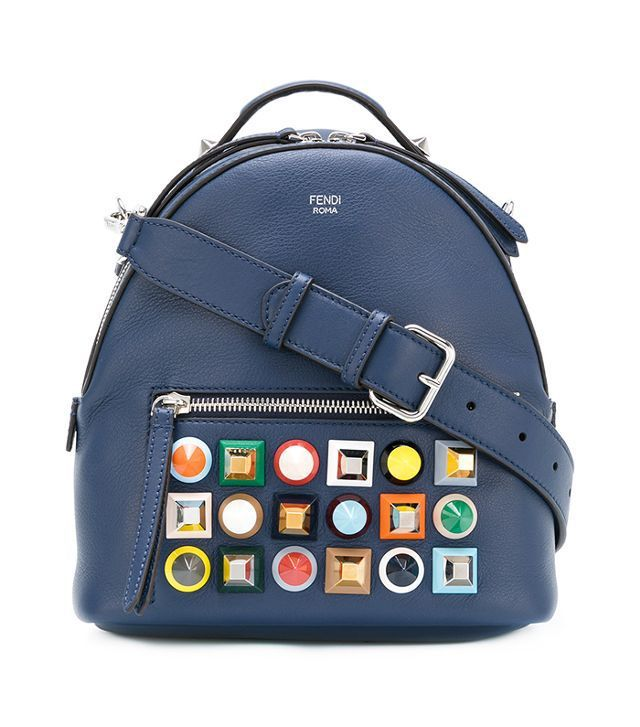 multicolour stud mini backpack