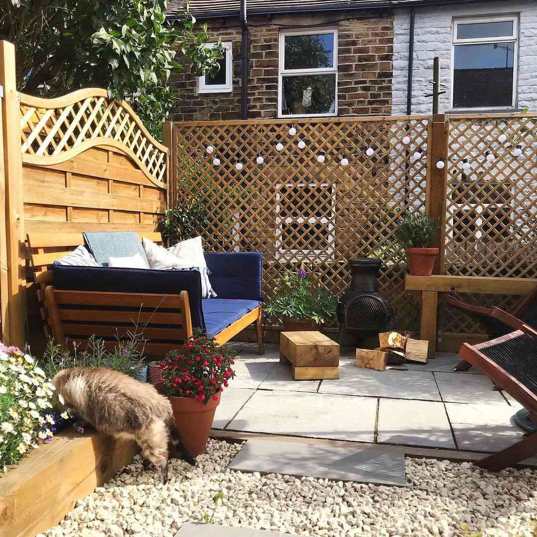 Patio with bamboo furniture