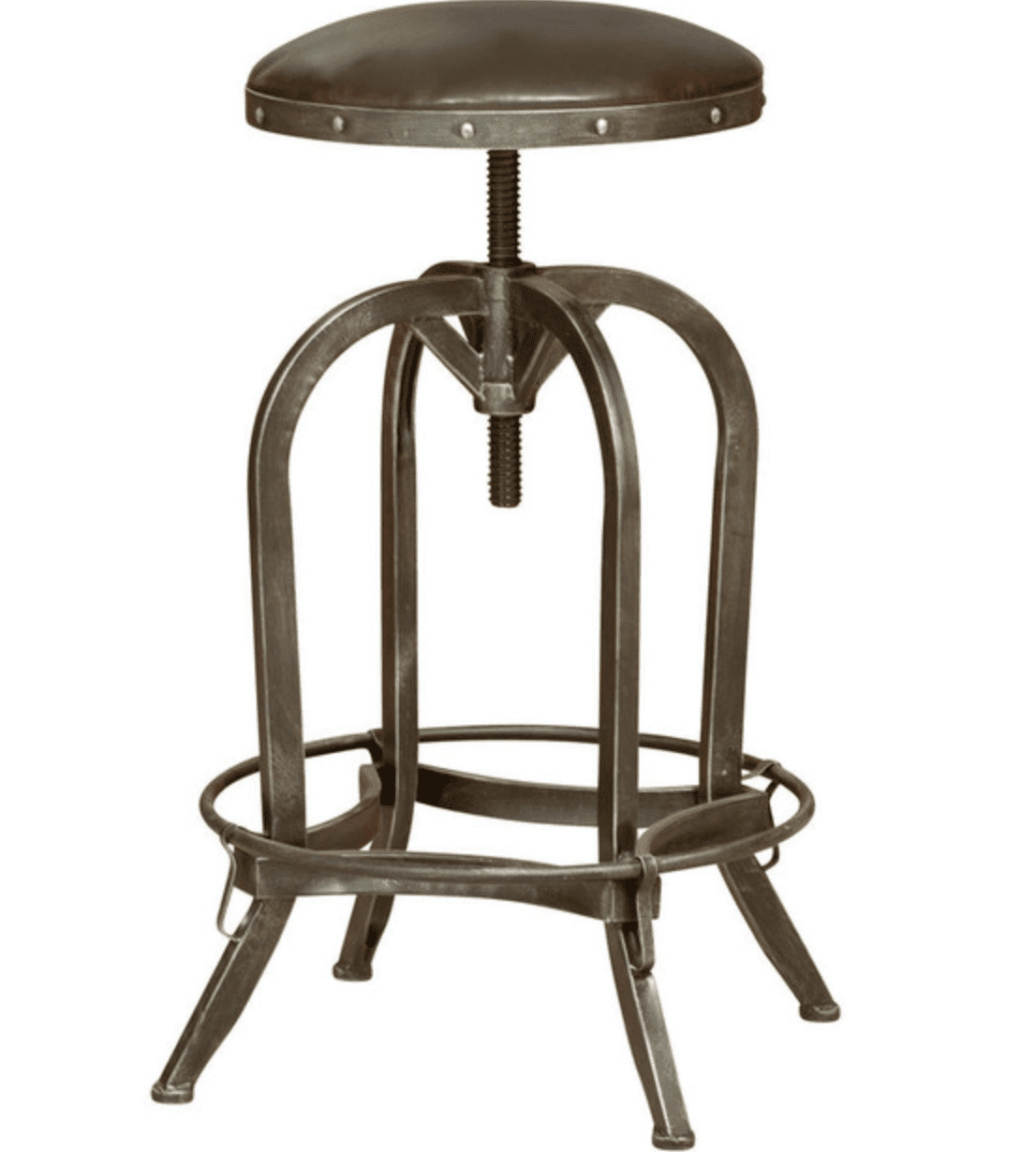GDF Studio Dempsey Bar Stool in Brown Leather