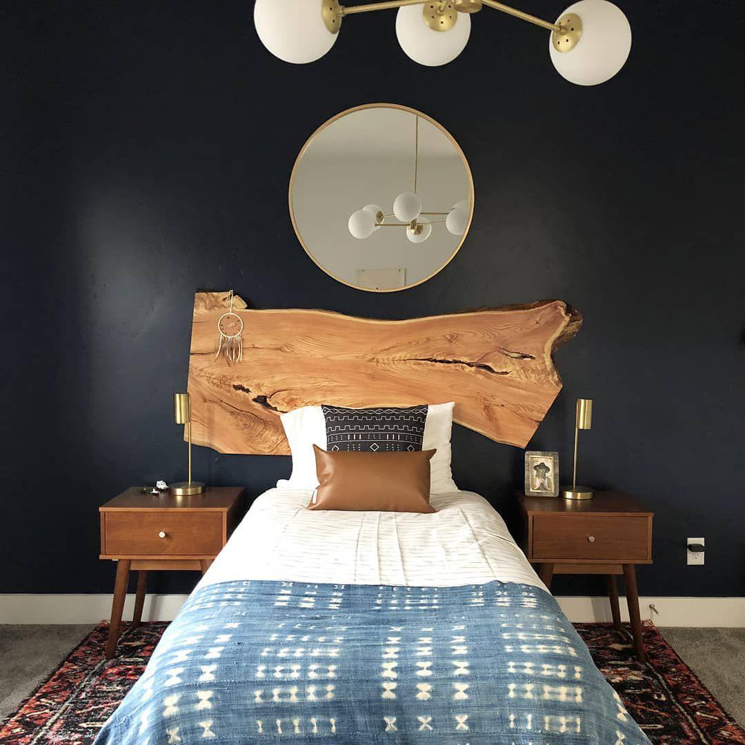 Boho black bedroom