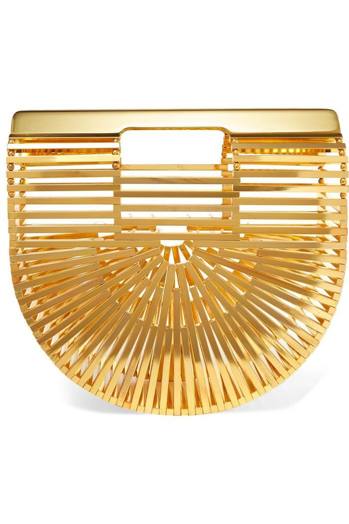 Ark Mini Gold-tone Clutch