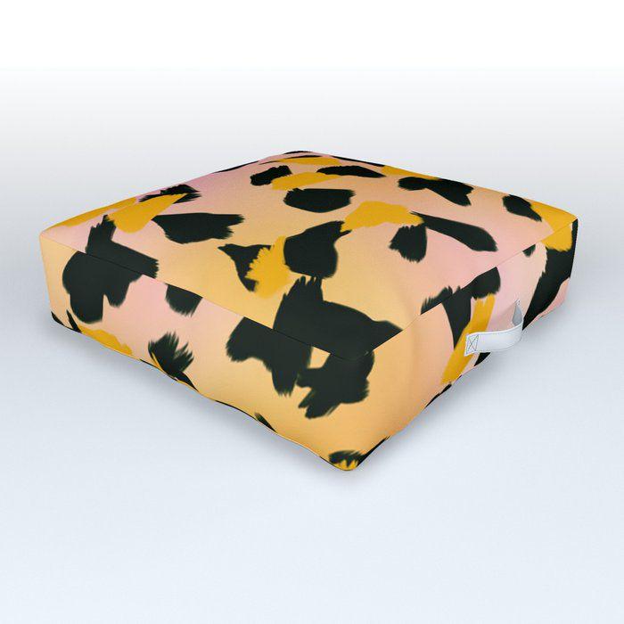 Painted Leopard Skin Outdoor Floor Cushion