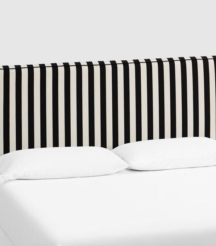 Canopy Stripe Loran Upholstered Headboard: Black - Fabric - California King Headboard by World Market Californiaking