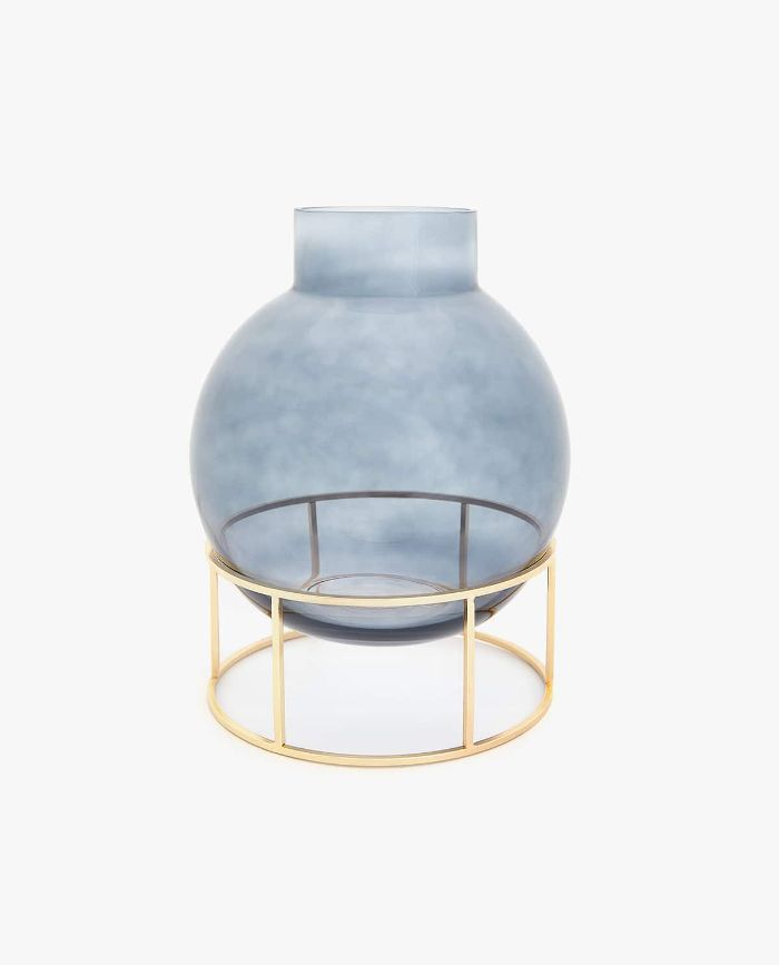 Zara Home Glass Vase with Gold Base