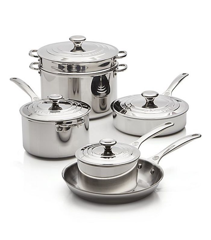 ® Signature Stainless Steel 10-Piece Cookware Set - Crate and Barrel