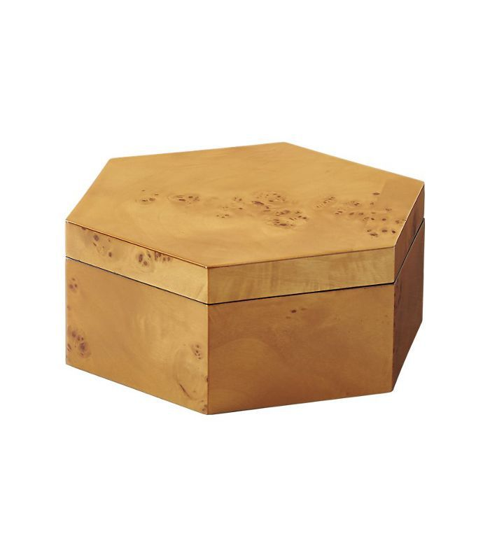burl wood large storage box
