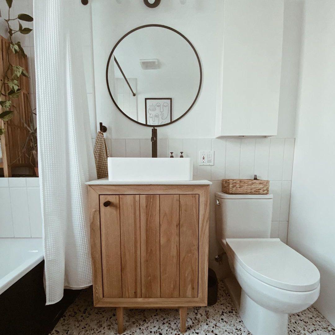 over the toilet storage minimalist