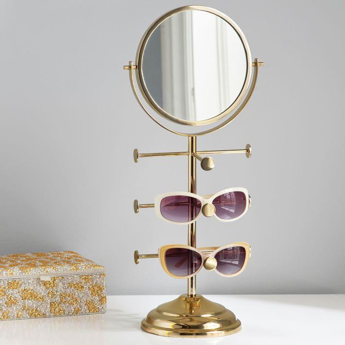sunglass holder vanity mirror