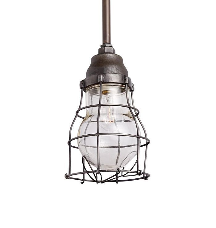 Explosion Proof Industrial Pendant w/ Wire Cage