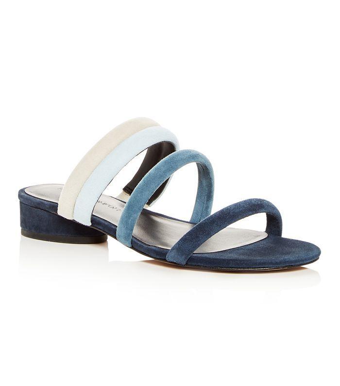Rebecca Minkoff Kade Color-Block Suede Slide Sandals