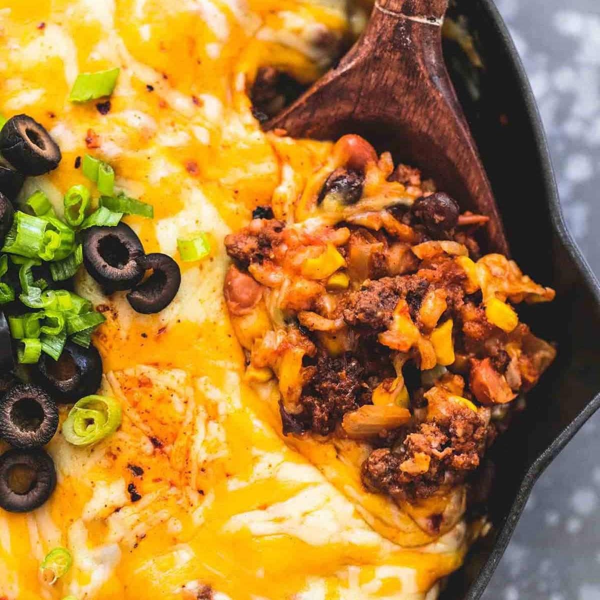 Sartén Mexicana de Carne y Arroz