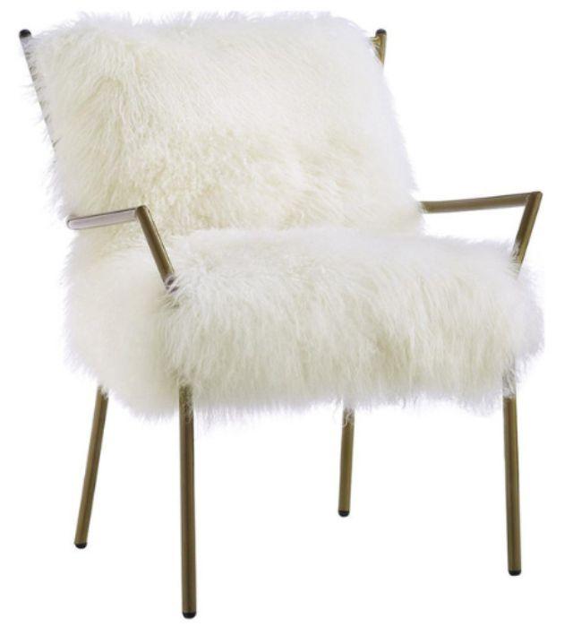 Houzz Lena Sheepskin Chair