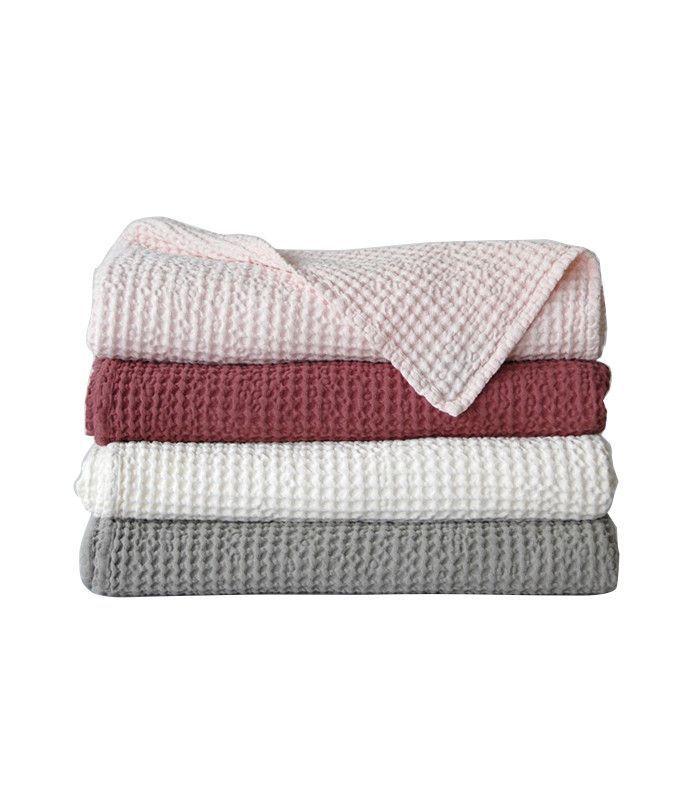 Area Inc. Sally Waffle Weave Blanket