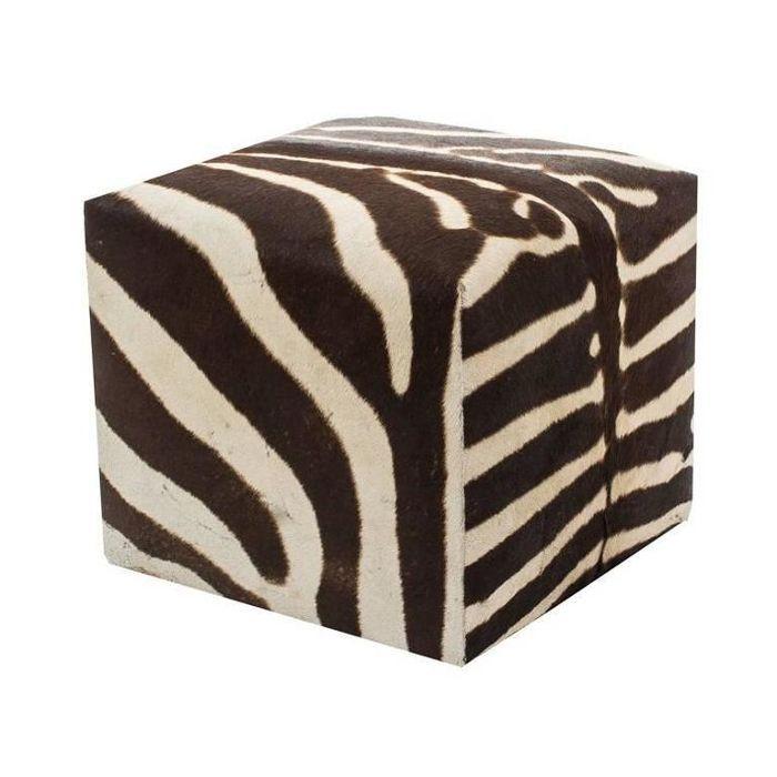 1stDibs African Zebra Cube Ottoman