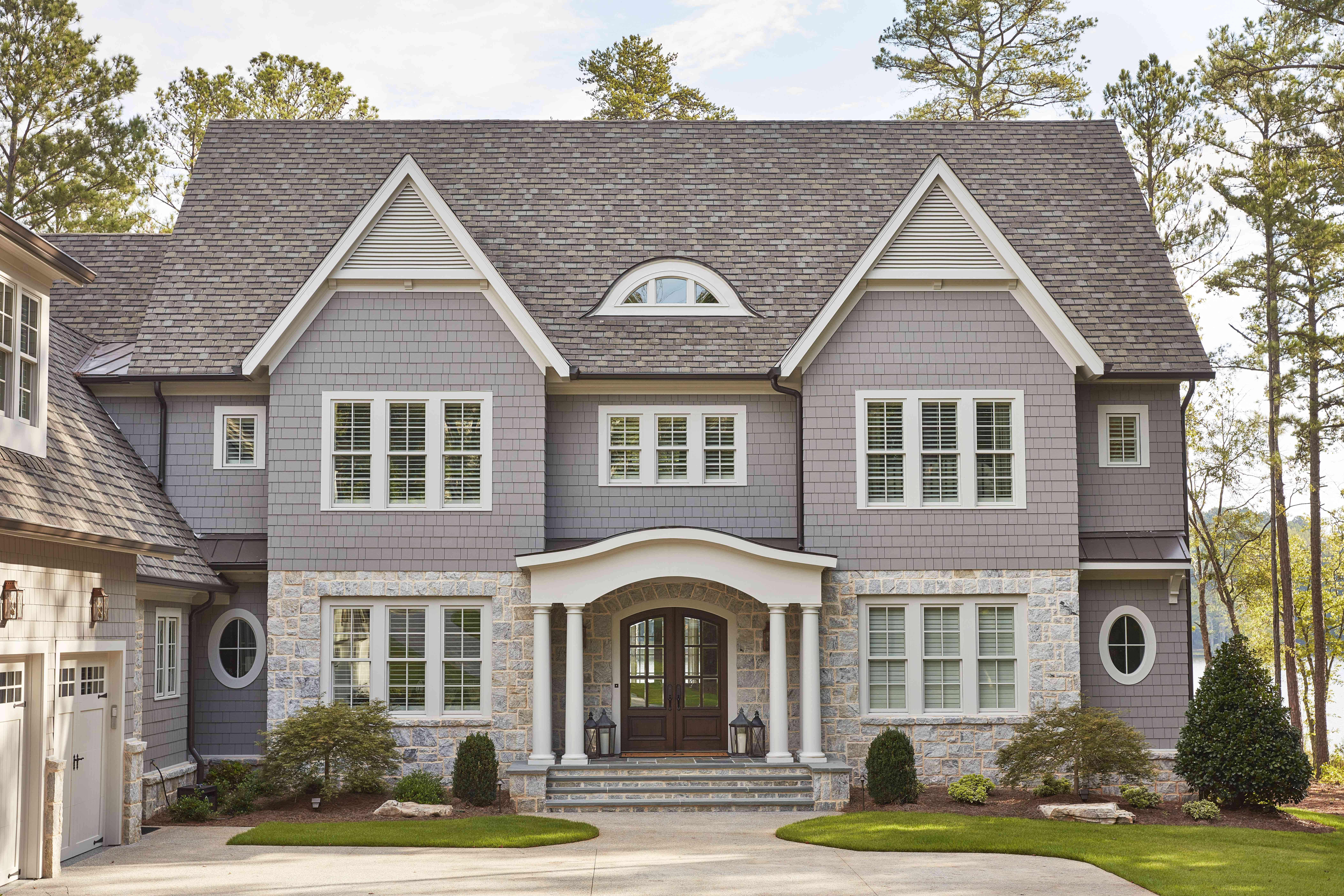 House with gray exterior