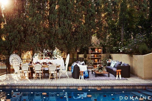 Diana Agron's backyard