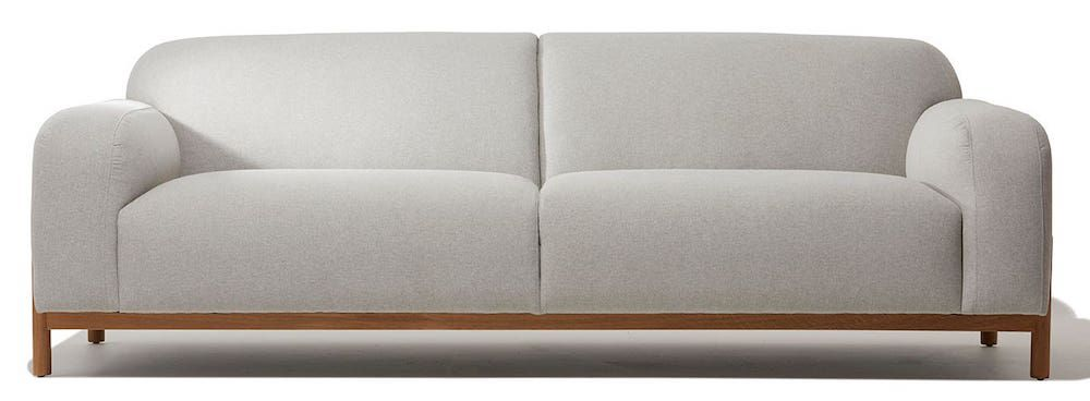 A modern gray sofa, currently for sale at Industry West