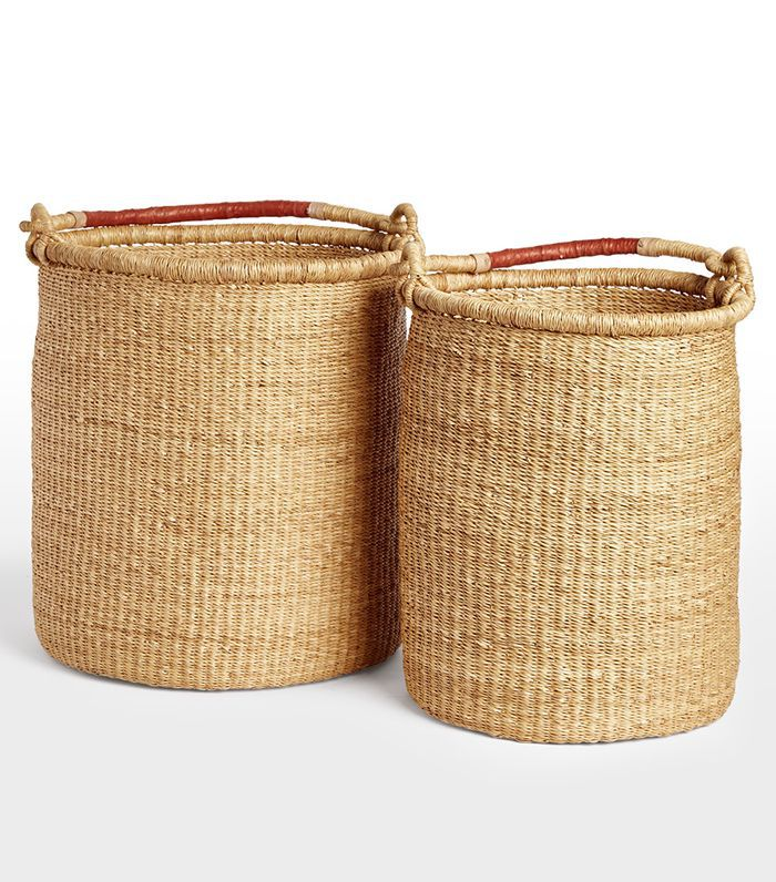 Natural Woven Tall Baskets
