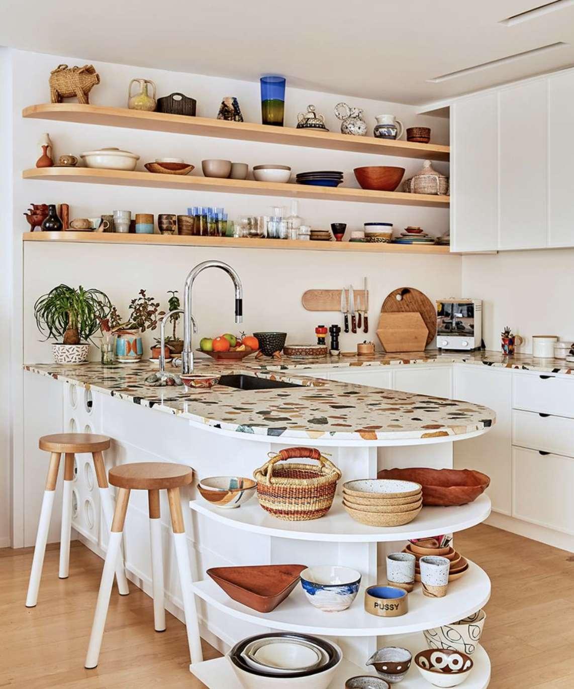 Kitchen with terrazzo