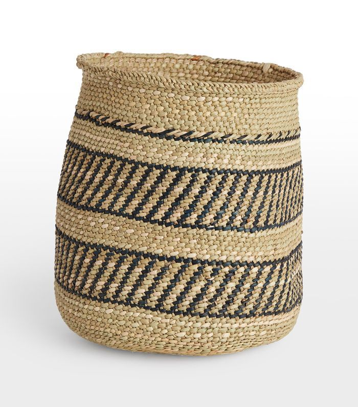 Iringa Basket - Black Stripe