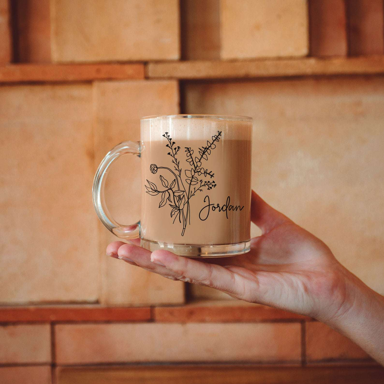 AlunaDesignCo Floral Mug Personalized