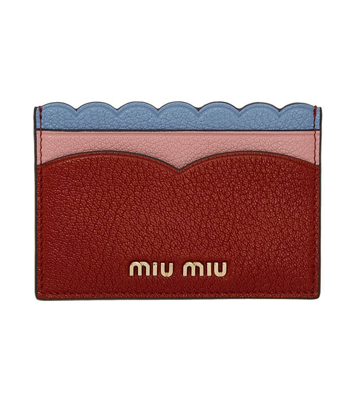 Givenchy Red & Burgundy Edge Card Holder