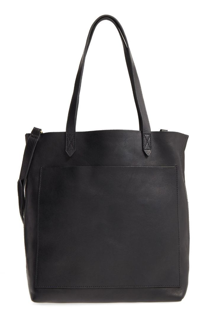 Medium Leather Transport Tote - Grey Travel Delay Protection