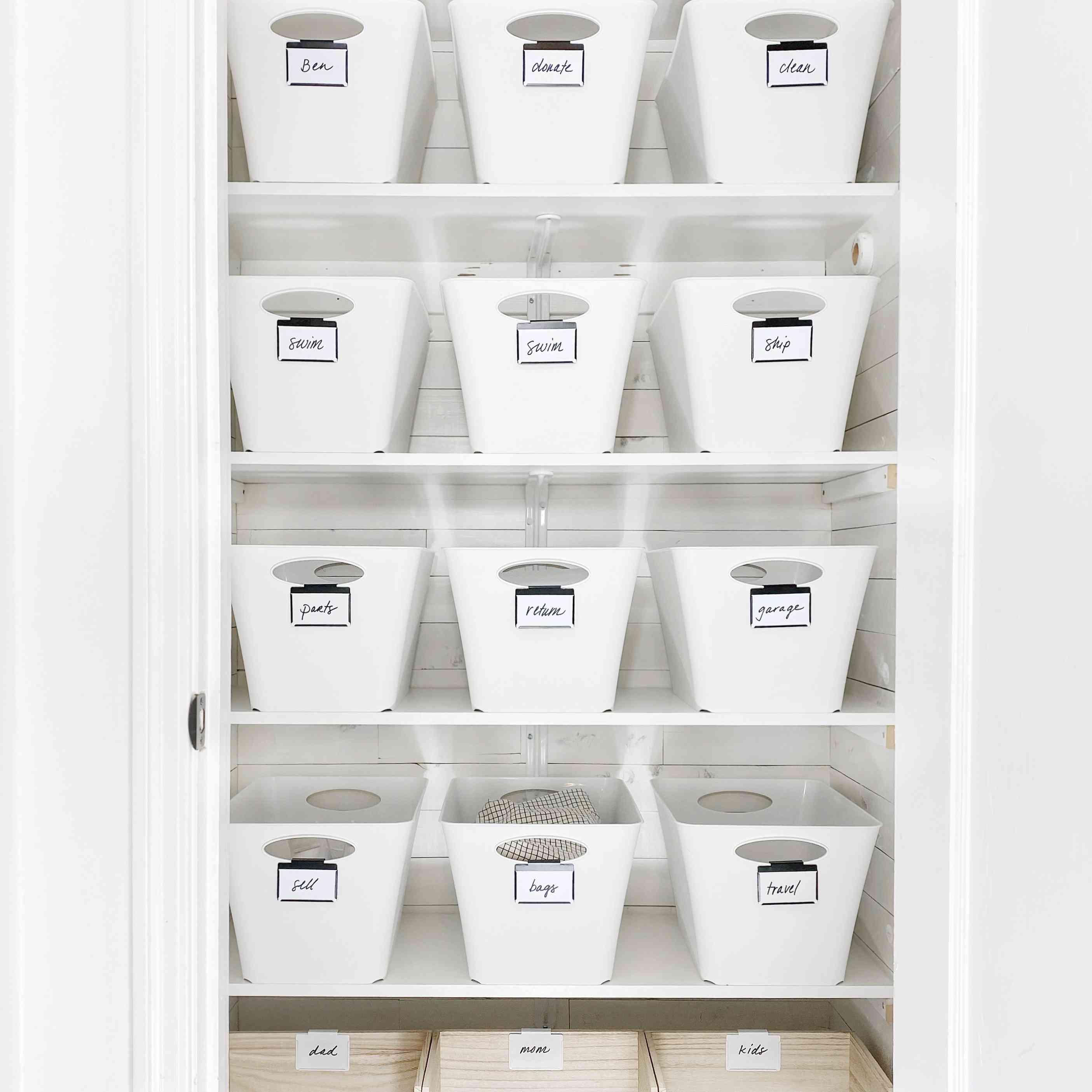 Closet with extra shelves